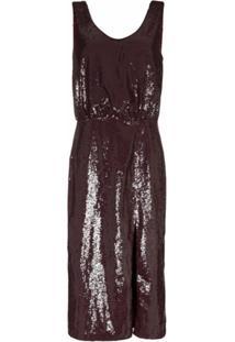 Johanna Ortiz Tarantella Sequinned Backless Dress - Vermelho