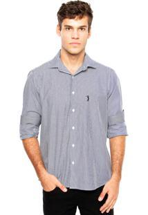 Camisa Aleatory Bordado Branca/Cinza