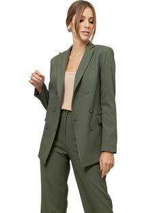 Blazer Mx Fashion Alfaiataria Romero Verde - Kanui