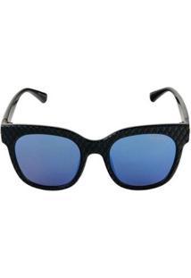 Óculos De Sol Khatto Captonê Feminino - Feminino-Preto+Azul
