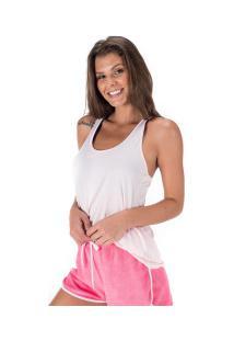Camiseta Regata Oxer Jogging New Ii - Feminina - Rosa Claro