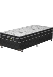Cama Box Solteiro Sleep Black - Probel - Branco / Preto