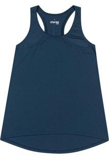 Blusa Azul Turquesa Nadador Em Dry