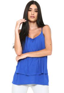 Blusa Finery London Brook Jersey Cami Azul