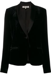 Diane Von Furstenberg Blazer Halzie De Veludo - Preto