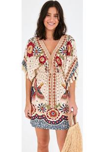 Vestido Curto Tucano Majestoso Bege