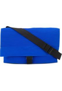 Homme Plissé Issey Miyake Bolsa Transversal Com Pregas - Azul