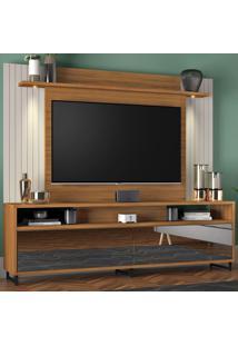 Estante Para Tv Até 55 Polegadas 2 Gavetas Nt1080 Freijó Trend/Off White - Notável
