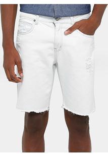 Bermuda Jeans Calvin Klein Barra Desfiada Masculina - Masculino