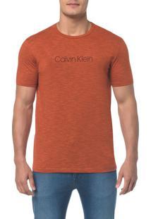 Camiseta Regular Basica Flame Mescla Laranja Camiseta Regular Basica Flame Mescla - Laranja - Pp