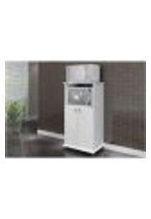 Armário Multiuso 02 Portas Para Forno/Microondas Am 1010 Branco - Móveis Mb