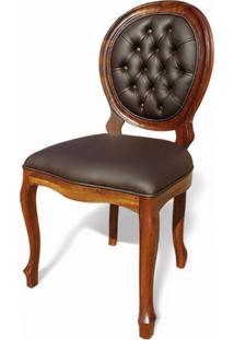 Cadeira Imperial Capitonê Madeira Maciça Design Clássico Peça Artesanal