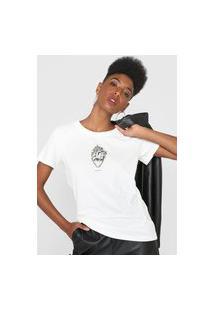 Camiseta Colcci Coração Branca