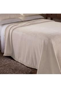 Cobertor Casal Poliéster Microfibra Sublime Raschel Jolitex Marfim