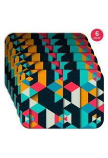 Jogo Americano Love Decor Wevans Colorful Polygonal Kit Com 6 Pçs