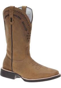 Bota Couro Via Boots Masculina - Masculino-Marrom Claro