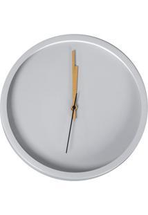 Relógio De Parede Olimpo 30Cm Cinza