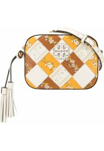 Tory Burch Floral Woven Camera Bag - Branco