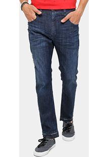 Calça Jeans Slim Ellus Confort Puídos Masculina - Masculino