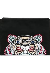 Kenzo Clutch 'Tiger' - Preto