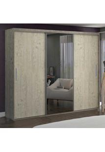 Guarda-Roupa Casal 3 Portas Com 1 Espelho 100% Mdf 1987E1 Demol/Marfim Areia - Foscarini