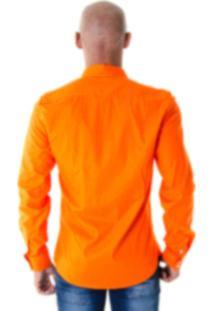 Camisa Social Joss Colors Laranja