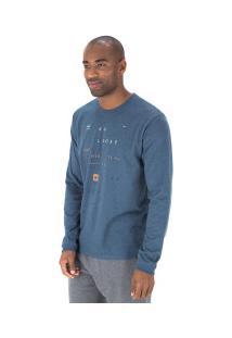 Camiseta Manga Longa Hang Loose Hazard - Masculina - Azul