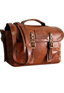 Bolsa Line Store Leather Case Couro Whisky Rústico.