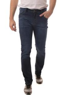 Calça Jeans Eventual Slim Fit Masculina - Masculino-Azul Escuro