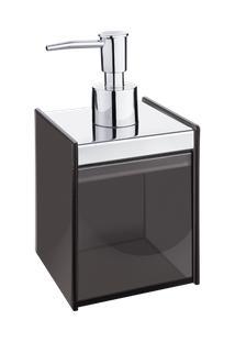 Porta Sabonete Líquido - Quadrata 8 X 8 X 17 Cm - 400 Ml Fumê Brinox