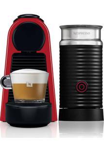 Cafeteira Nespresso Essenza Mini C30, 0.6L, 1450W, Café Cremoso, Aeroccino, Vermelho 220V