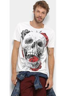 Camiseta Derek Ho Skull Eats Roses Masculina - Masculino-Off White