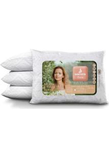 Travesseiro Microfibra Com Capa - Santista Flora