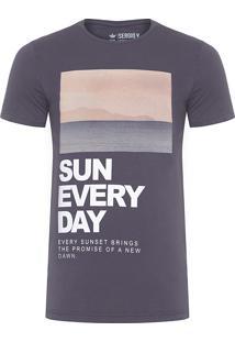 Camiseta Masculina Venice Beach - Cinza