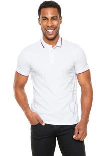 Camisa Polo Calvin Klein Jeans Estampada Branca