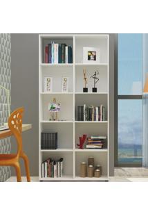 Estante Para Livros Clean 8 Prateleiras Branco - Artany