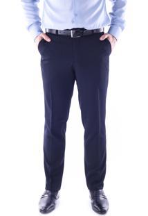 Calça 5528 Social Azul Marinho Traymon Modelagem Slim