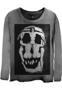 Camiseta Skull Lab Skull Corps Cinza