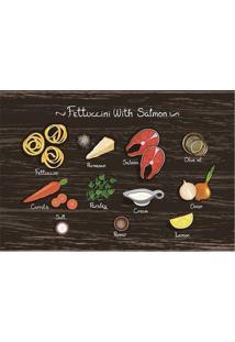 "Tapete Transfer ""Fettuccini With Salmon""- Marrom & Larantapetes Junior"