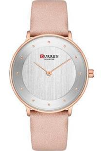 Relógio Curren Analógico C9033L Feminino - Feminino-Rosa