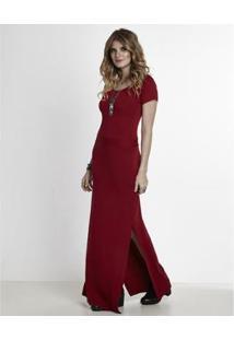 Vestido Manola Longo - Feminino-Vermelho