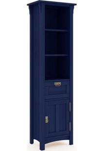 Armário Para Banheiro 1 Porta Mission Azul - Mão & Formão