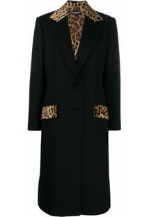 Dolce & Gabbana Casaco De Alfaiataria Com Recorte - Preto