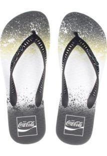 Chinelo Coca Cola Wave Lip Masculino - Masculino-Preto