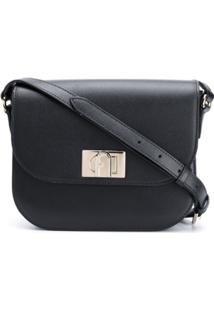 Furla 1927 Twist Lock Shoulder Bag - Preto