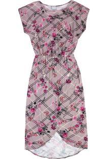 Vestido Floral Transpassado Malwee