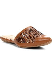Sapatilha Shoestock Laser Geométrico Feminina - Feminino-Caramelo