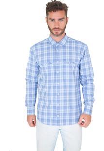 Camisa Lupim Xadrez Azul