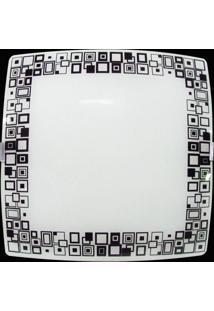 Plafon Sobrepor Quadrado Pequeno Mosaico Preto Attena