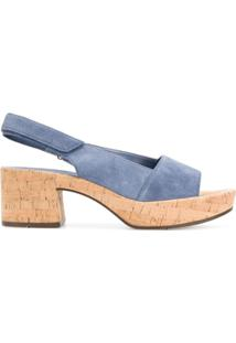 Hogl Sandália Com Salto De Cortiça - Azul
